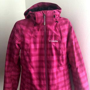 Colombia Pink Plaid Coat